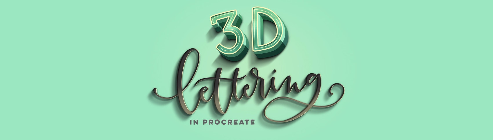 Create stunning, pop-off-the-screen dimensional iPad lettering.