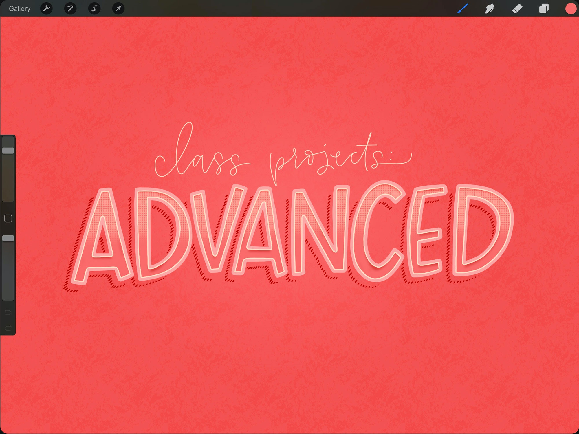 Advanced IPad projects using Procreate
