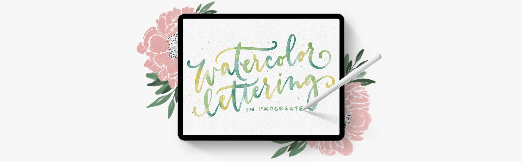 Watercolor lettering in Procreate! Enroll Today!