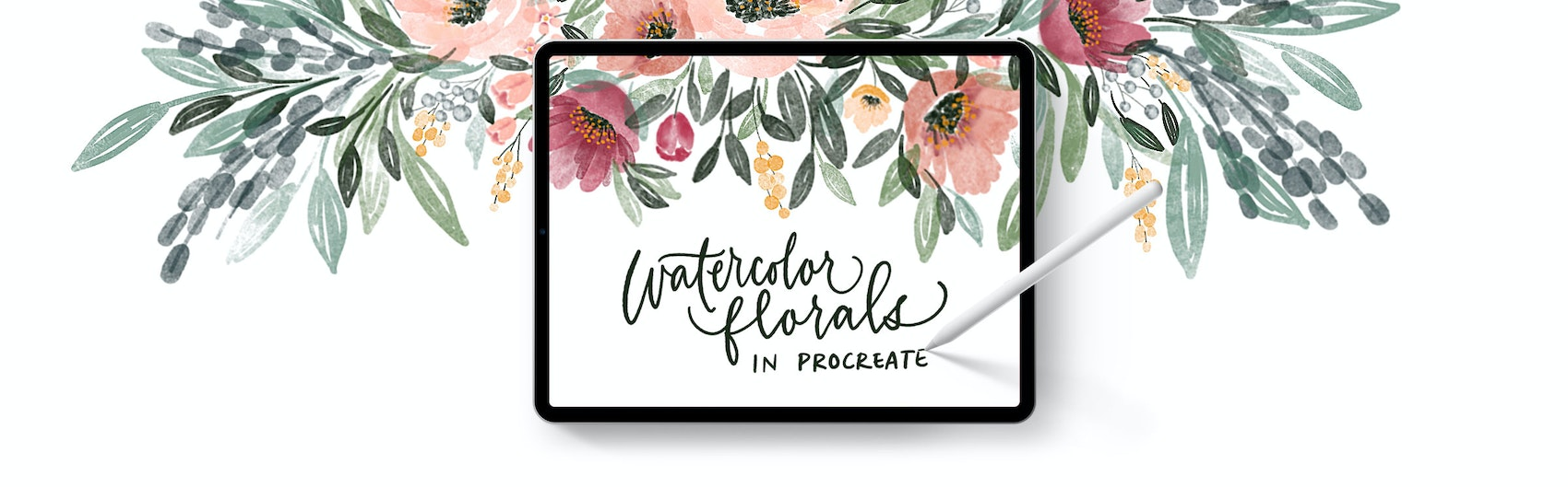 Watercolor Florals in Procreate! Enroll Today!