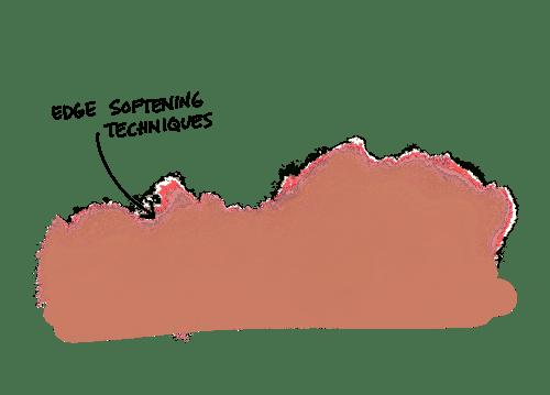 Procreate Watercolor techniques: Edge Softening