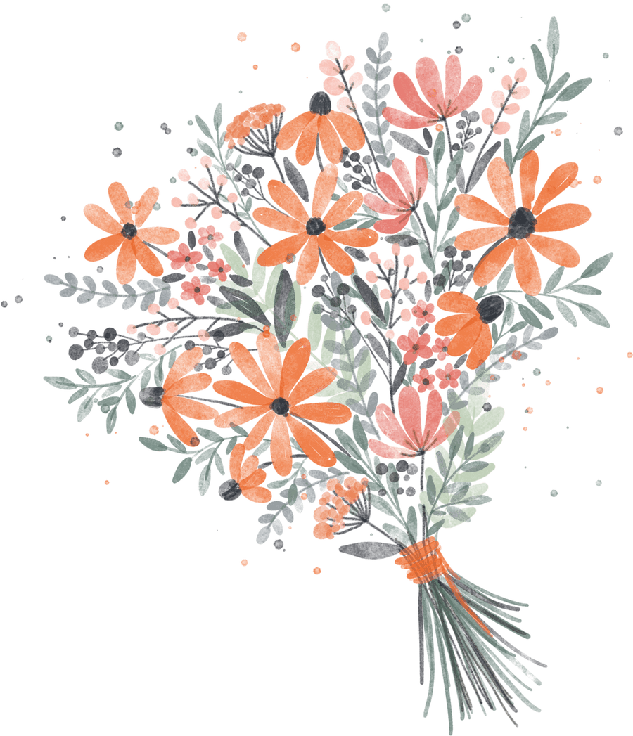 Watercolor Florals in Procreate Bouquet Project